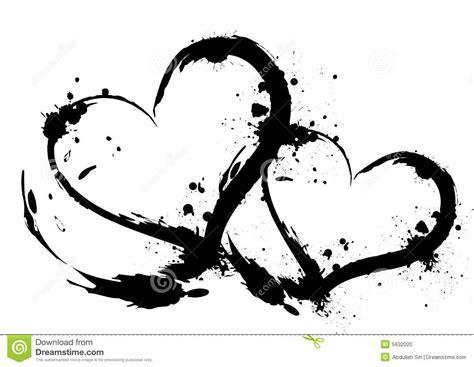 brush stroke hearts stock illustration illustration