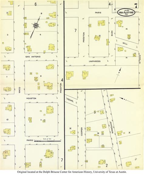 alstyne texas map sanborn maps of texas perry casta 241 eda map collection ut library