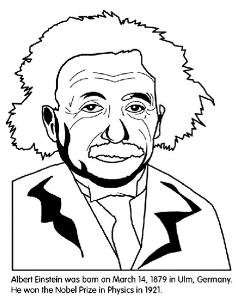 Einstein Coloring Pages albert einstein coloring page crayola