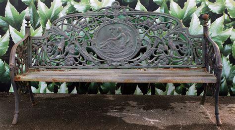 banc de jardin m 233 daillon en fonte vert antique