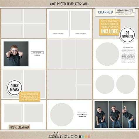 4x6 Photo Templates Vol 1 By Sahlin Studio 4x6 Photoshop Template