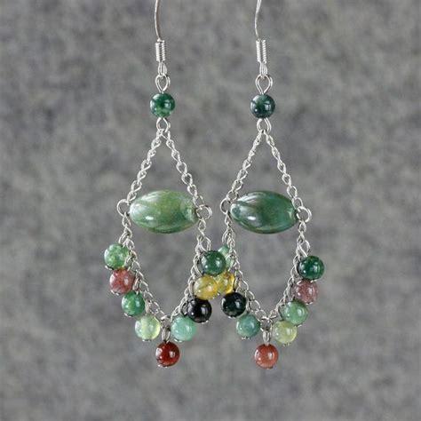 Earrings Handmade Designs - earrings chandelier agate dangle handmade ani designs