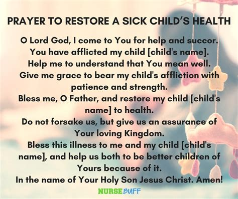 prayer for sick 8 miracle prayers for a sick child nursebuff miracleprayers prayerforsickchild