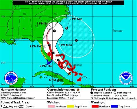 hurricane map why hurricane matthew s path changed so dramatically nj