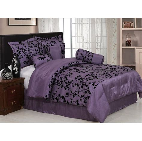 prodigious g comforter set queen purple comforter set