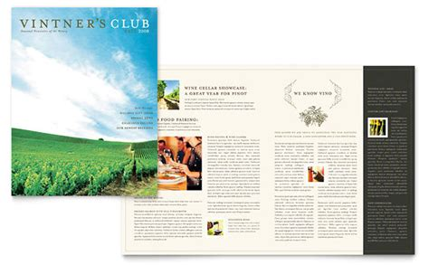 agriculture brochure templates vineyard winery newsletter template design