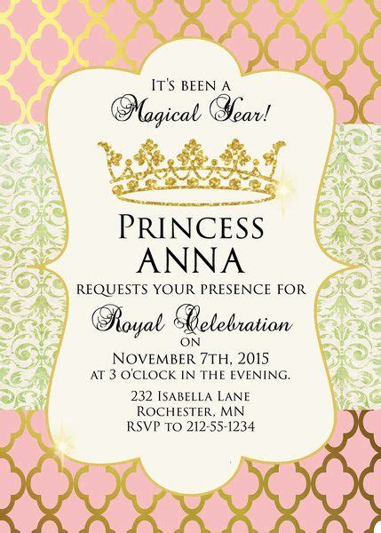 25 best ideas about princess birthday invitations on