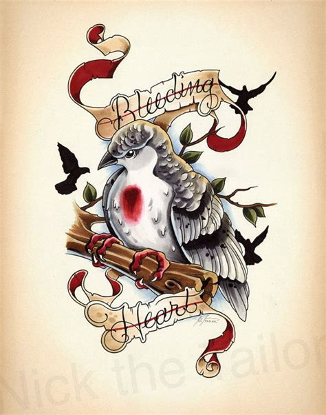 tattoo flash c est quoi bleeding heart dove tattoo design print flash style