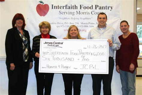 Interfaith Food Pantry by Jcp L Harvest For Hunger Caign Supports Interfaith Food Pantry Morristown Nj News Tapinto