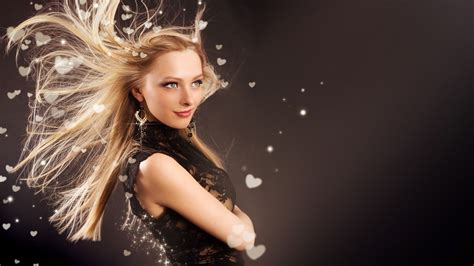 girl s blonde hair flying download hd wallpapers