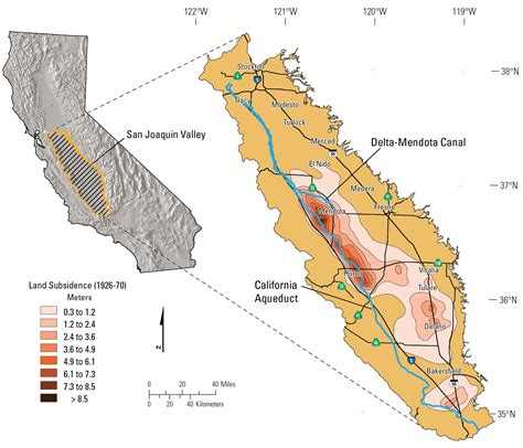 california map san joaquin valley in own words usgs hydrologist discusses subsidence in