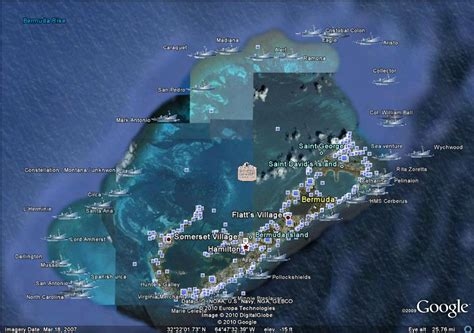 shipwreck location bermuda shipwreck earth map