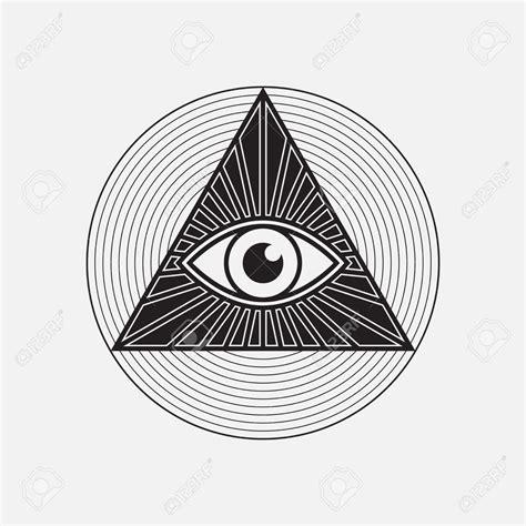 illuminati symbol eye illuminati logo eye pencil and in color