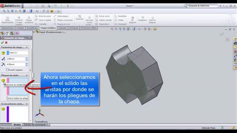tutorial solidworks pdf 2013 video tutorial convertir solido en chapa met 225 lica