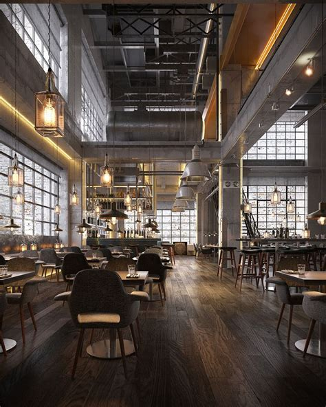 industrial interiors best 25 industrial restaurant ideas on
