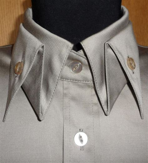 pattern for shirt collar grey shirt with folded collar detail sewing inspiration