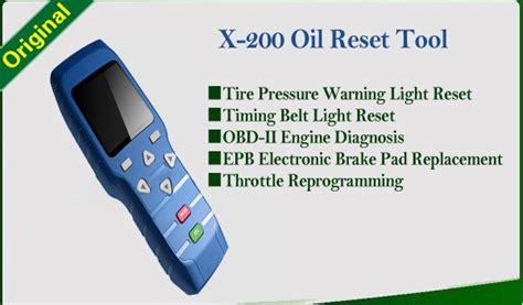 reset sum tool x 200 oil reset tool x200 light resetter x200 airbag reset