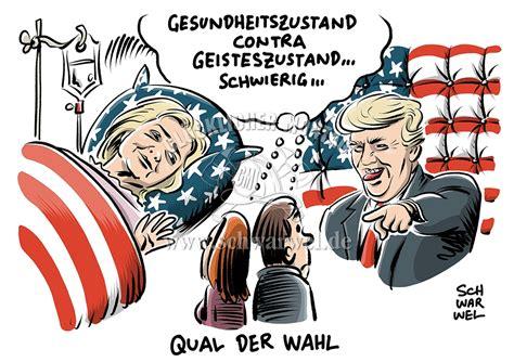 Us Wahl 2016 Wir Erkl - donald schwarwel karikatur