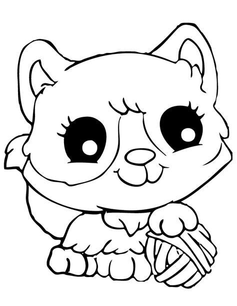 coloring pages of cute kittens cute cat coloring pages coloring home