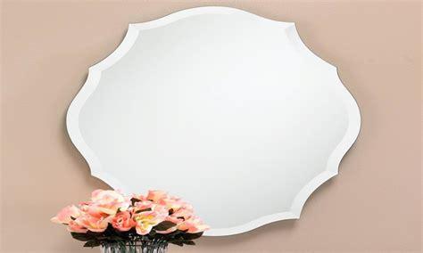 frameless wall mirror frameless beveled mirrors large