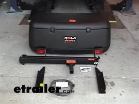 rola swinging enclosed cargo carrier for 2 trailer hitch compare 23x47 carpod walled vs rola swinging enclosed