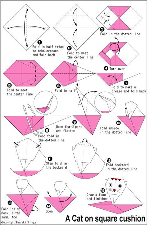 How To Make A Paper Cat Step By Step - a geometria no origami lemin