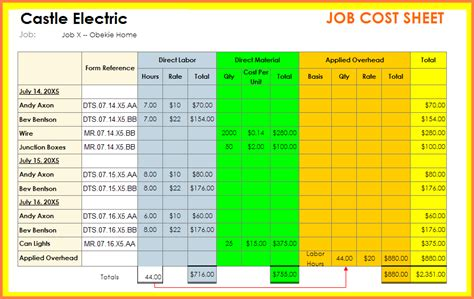 excel job sheet template sample job sheet template for ms excel