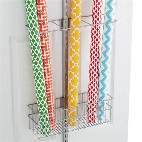 elfa gift wrap organizer platinum elfa utility gift wrap rack the container store