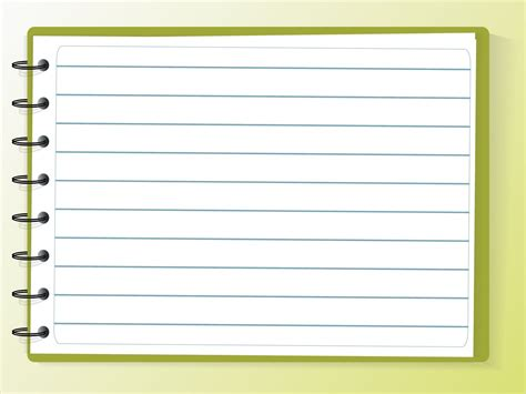 Notebook Paper Powerpoint Template