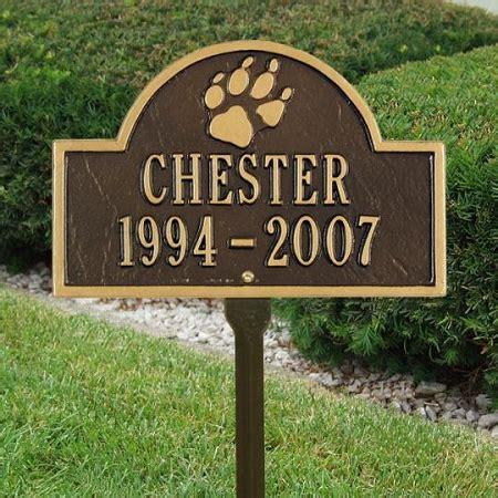 dog memorial plaque  paw print