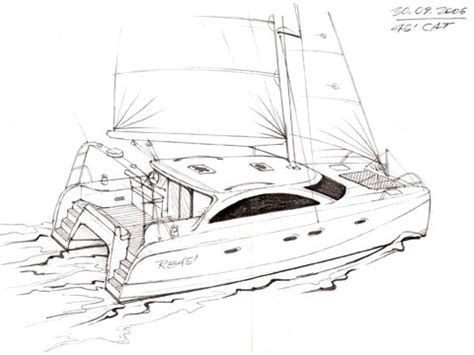 power catamaran drawings small motor home plans small free engine image for user