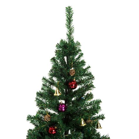 california backyard christmas trees homcom 6ft decorated christmas tree winter holiday