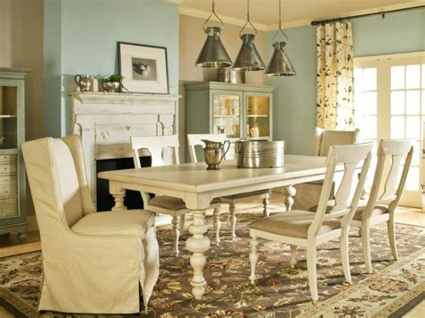 country style dining room sets cottage white set solid