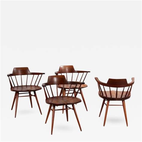 george nakashima captain chair george nakashima set of four captain chairs by george