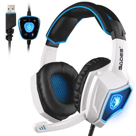 Headphone Gaming Sades sades spirit wolf 7 1 surround sound stereo usb gaming