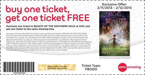 printable amc discount tickets amc theaters bogo free ticket printable coupon