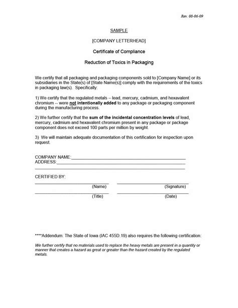 certificate of conformance template best resumes