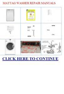 Maytag Dishwasher Repair Manual Maytag Repair Maytag Repair Manuals For Washer