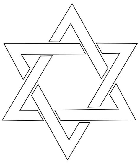 printable jewish star template hanukkah star of david coloring pages family holiday