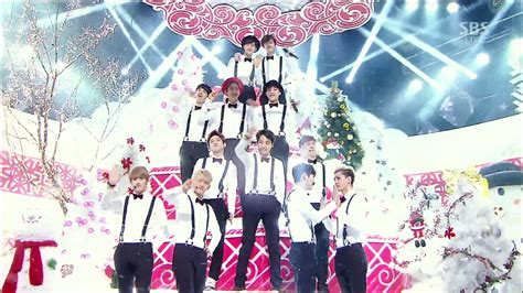 exo christmas day exo wins 1 on inkigayo with miracles in december