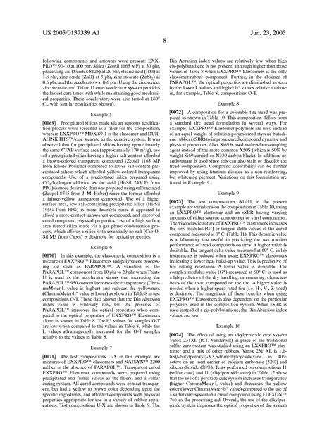 colorable claim patent us20050137339 colorable elastomeric composition