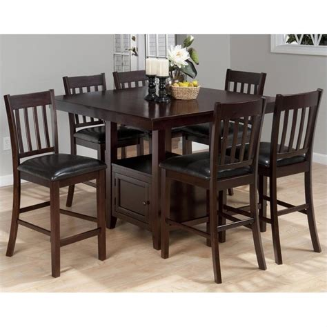 Square Counter Height Dining Table Sets Jofran Counter Height Square Storage Dining Table In Tessa Chianti 933 48 Kit
