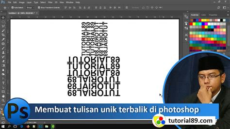 membuat tulisan di photo online cara membuat tulisan unik terbalik di photoshop video