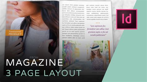 magazine design youtube let s create a 3 page magazine spread in indesign youtube