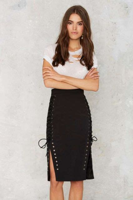 20 cool lace up skirt to repeat styleoholic