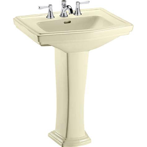 toto clayton pedestal sink toto lpt780 8 03 clayton 27 x 20 bone pedestal lavatory sink