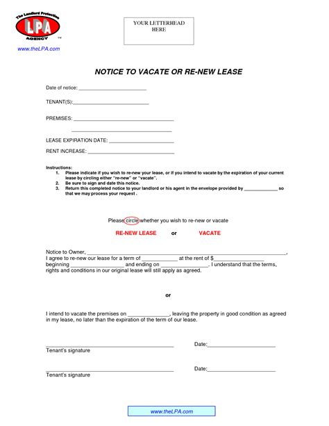 lease renewal letter lease renewal form market rent renewal lease