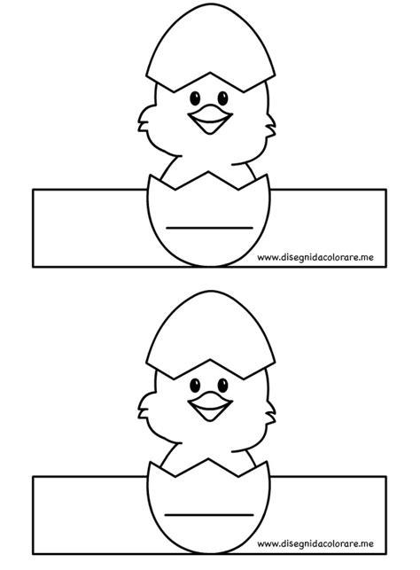 porta da colorare porta uova con pulcino da stare disegni da colorare