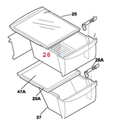 240351005 electrolux frigidaire refrigerator crisper drawer