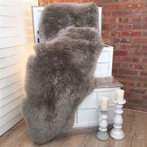 luxury sheepskin rug luxury grey vole sheepskin rug by cowshed interiors notonthehighstreet